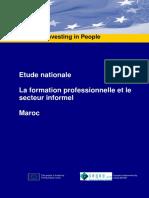 Etude nationale. La formation professionnelle et le secteur informel. Maroc