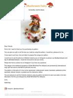Mushroom Fairy - By Sedef Bay - Kedi Peri Atölyesi