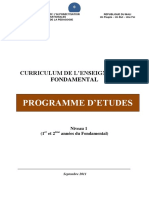 CURRICULUM DE L'ENSEIGNEMENT FONDAMENTAL 2