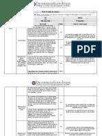 Matriz de análisis de lectura. Yuni, J., y Urbano