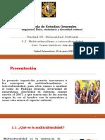 Unidad IV - 4.2. Multiculturalismo e interculturalidad