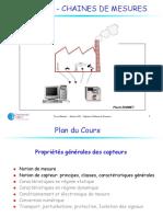 CAPTEURS - CHAINES DE MESURES