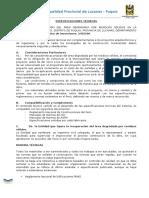 ESPECIFICACIONES TÉCNICAS DE RESIDUOS SOLIDOS