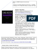 Predictors of Complicated Grief A Systematic Review of Empirical Studies