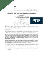 Corporate Update Bulletin 2- Analysis of SEBI Order dated 19th November 2010