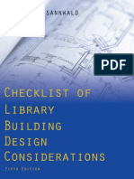Checklist of Library Building Design Considerations - Sannwald 2ed 2009