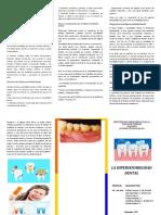 Qué es la Hipersensibilidad dental