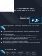 EE765-Reliability and Failure Analysis of electronic devices