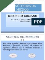 ROMANO SUJETOS DE DERECHO