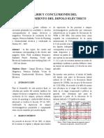 ANÁLISIS Y CONCLUSIONES DEL FUNCIONAMIENTO DEL DIPOLO ELÉCTRICO