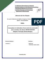 Conception et réalisation d'une carte de commandepour variateur de vitesse MICRO MASTER Adapté à l'énergie photovoltaïque..pdf