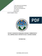 Informe Final Grupo Corporativo Multi, S.A.