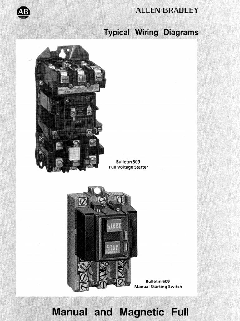Starter Diagram Relay Switch 10 Hp Motor Typical Wiring