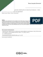 Allain, M. L., y Chambolle, C. (2003) - Les relations entre la grande distribution et ses fournisseurs. Bilan et limites de trente ans de régulation