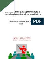 estruturação do trabalho acadêmico