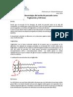 Informe Ventajas y Desventajas de FFA y Ethyl Ester