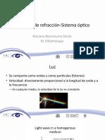 Principios de Refracción-Sistema Óptico