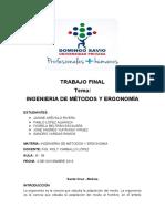 TRABAJO FINAL - Ingenieria de Metodos y Ergonomia