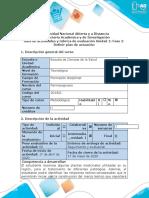 Guía de actividades y rúbrica de evaluación - Fase 2 - Definir el plan de actuación farmacognosia