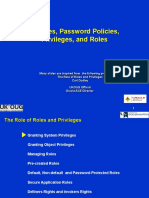 Ch3 Profiles, Password Policies, Privileges, And Roles
