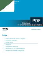 Didáctica de la geometría - Tema 7. Dificultades y obstáculos en enseñanza de la geometría. Autor