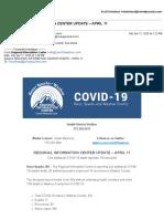 WCHD Corona Update 4-11-2020