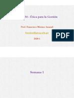 GES234 202001 Unidad 01 - Ética para la gestión - Semana 1