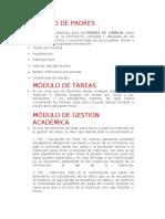 Módulos de un sistema de gestión académico