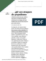 Sasportes 2020 Reagir aos ataques do populismo _ Opinião _ PÚBLICO