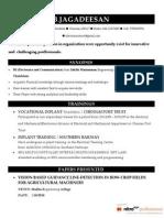 Resume of Jagadesh