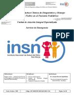 RD N° 000258-2019-DG-INSNSB GPC DIAGNOSTICO Y MANEJO DE LA FIEBRE