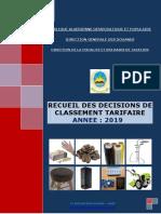 Recueil Des Decisions 2020