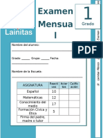 Septiembre - 1er Grado - Examen Mensual (2019-2020).docx