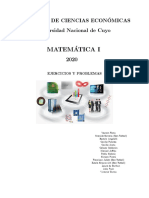 EJERCICIOS Y PROBLEMAS  2020 matemática I