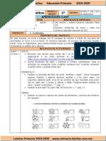 Septiembre - 1er Grado Matemáticas (2019-2020)
