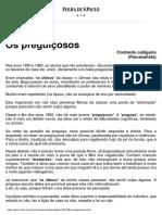 TEXTO DO PSICANALISTA CONTARDO CALEGARIS