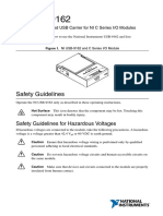 User guide for NI USB 9162 chassis