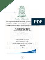 Ruta de atención en estimulación adecuada para niños de 0 a 6 años con discapacidad visual para un centro hospitalario de la ciudad de Medellín