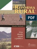 reforma rural deuda social A.Machado