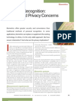 Biometric Recognition Security and Privacy Concerns