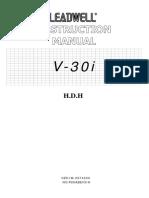 V-30i H.D.H Machine Instruction Manual