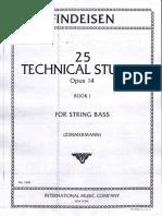 FINDEISEN - 25 Technical Studies Op 14 Book 1 Ed IMC STRING BASS.pdf