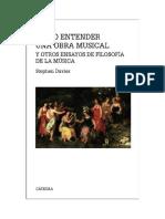 Davies Stephen - Como Entender Una Obra Musical Y Otros Ensayos De Filosofia De La Musica