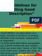 English Report Guidlines in Writing Good Description