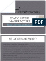 Best Static Mixers Manufacture - Finepac Structure