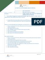 Protocolo puesta en servicio bombas aguas de proceso.