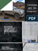 Camioneta AYS-745
