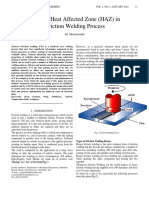 Study of Heat Affected Zone (HAZ) in friction welding process