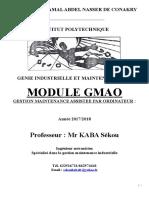 GMAO Gestion de maintenance assistée par ordinateur L4.docx