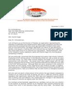 AG-elect Schneiderman Letter